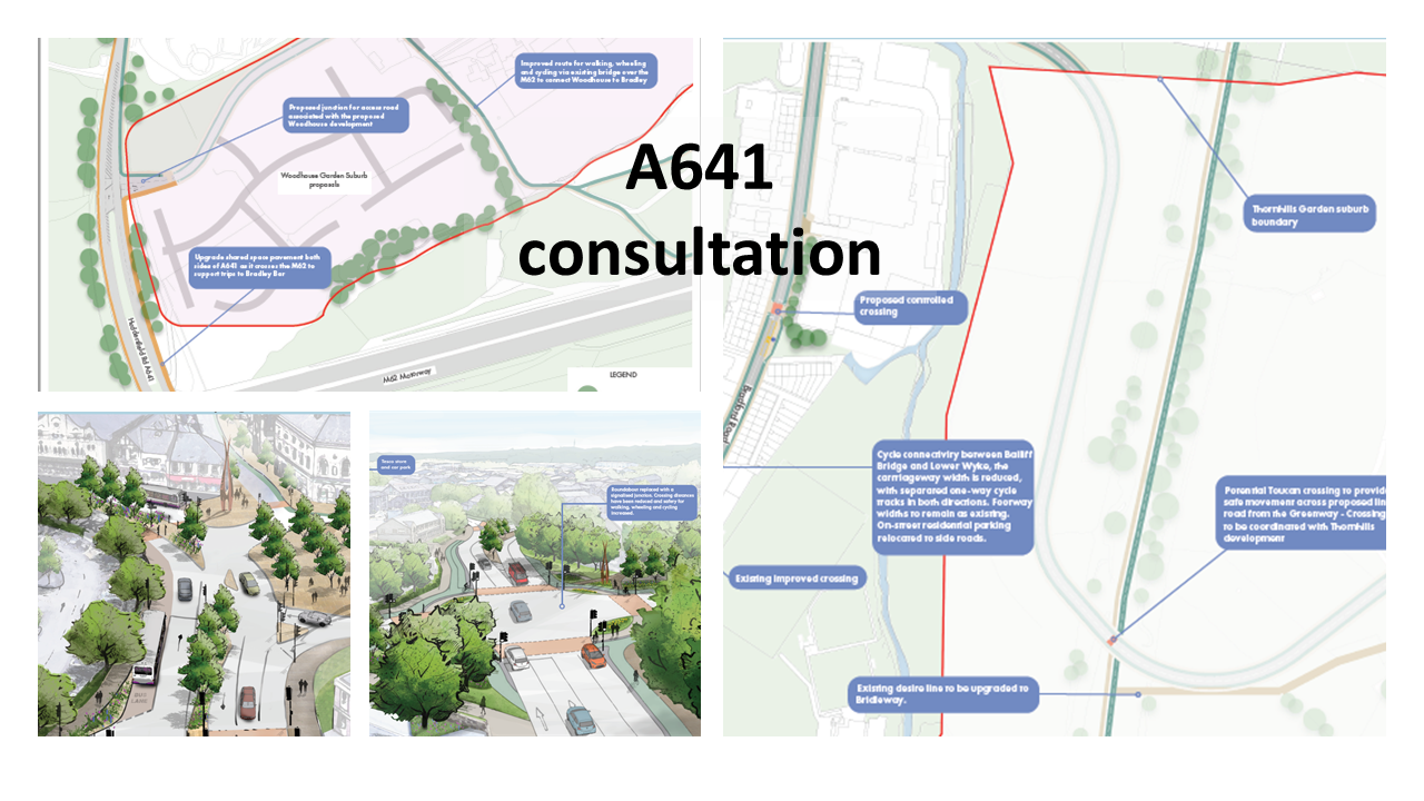 Cover images for A641 consultation